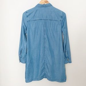 Mango Dresses - Mango Denim 1/2 button Down Dress - SZ XS